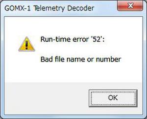 Gomx1_errormsg